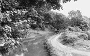 Risca, the Canal from Darran Bridge c1955