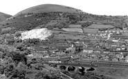 Risca, view showing Twmbarlwm c1955