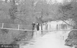 River Dart, A Couple On The Were Bridge 1913