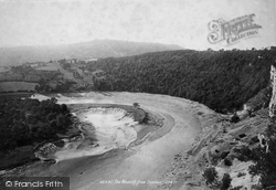 River Wye, The Windcliff From Llancaut 1893