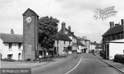 Robertsbridge, Memorial And High Street c.1955