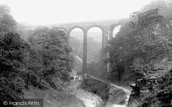 Rochdale, Healey Dell Viaduct 1895