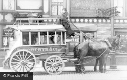 Rochdale, Horse-Drawn Bus, The Spread Eagle Inn c.1900