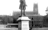 Rochdale, John Bright's Statue 1898