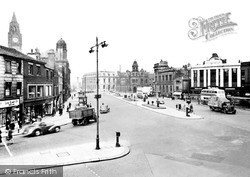 Rochdale, The Town Centre c.1955