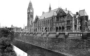 Rochdale, The Town Hall c.1900