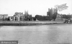 Rochester, Castle From Strood 1889