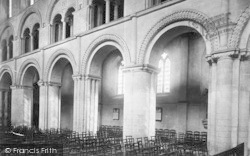 Rochester, Cathedral, Columns In The Nave 1889