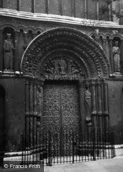 Rochester, Cathedral Doorway c.1950