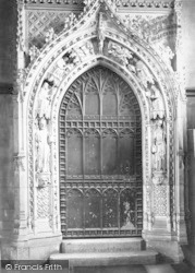 Rochester, Cathedral, The Chapter House Door 1889
