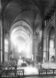 Rochester, Cathedral, The Choir West 1889