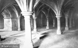 Rochester, Cathedral, The Crypt 1889