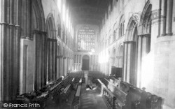 Rochester, Cathedral, The Nave West 1889