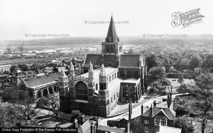 Photo of Rochester, The Cathedral From The Castle c.1960