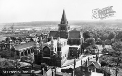 Rochester, The Cathedral From The Castle c.1960