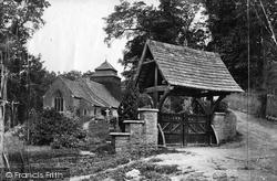 Rockfield, Church Of St Cenedlon And Lychgate c.1878