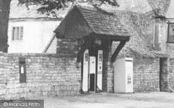 Rodborough, Petrol Pumps By The Bear Inn c.1955