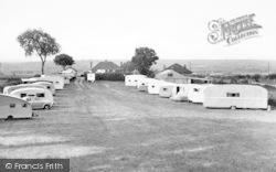 Bucklegrove Caravan Park c.1955, Rodney Stoke
