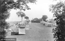 Bucklegrove Caravan Site c.1955, Rodney Stoke