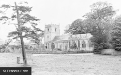 Low Green And Parish Church c.1955, Romaldkirk