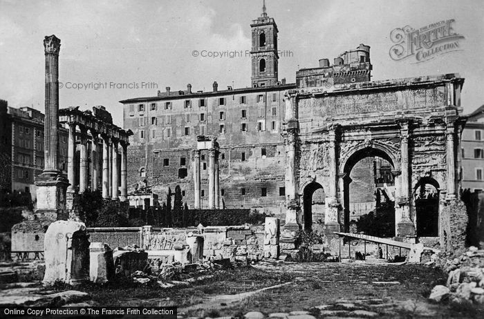 Photo of Rome, Arch Of Septimius Severus c.1930