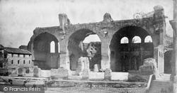 Rome, Basilica Of Constantine c.1873
