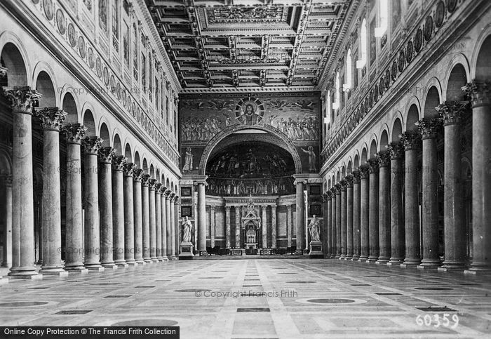 Photo of Rome, Basilica Of St Paul Outside The Walls, Interior c.1930