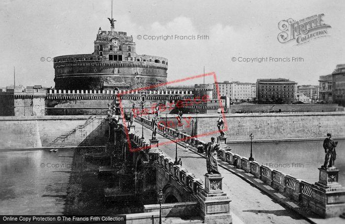 Photo of Rome, Castel Sant'angelo And Bridge c.1930