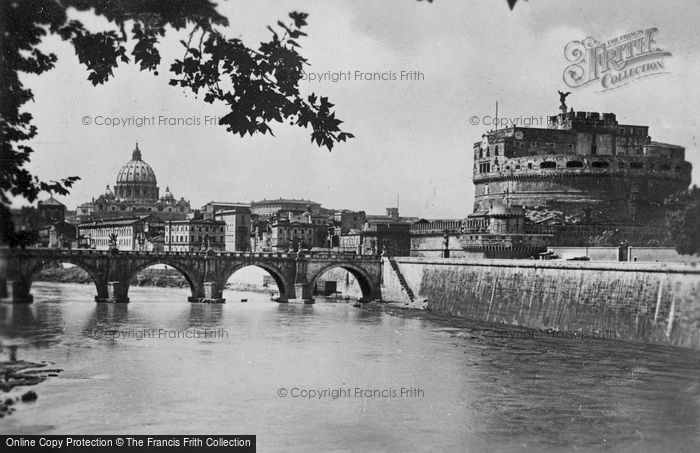 Photo of Rome, Castle And Sant'angelo Bridge c.1930