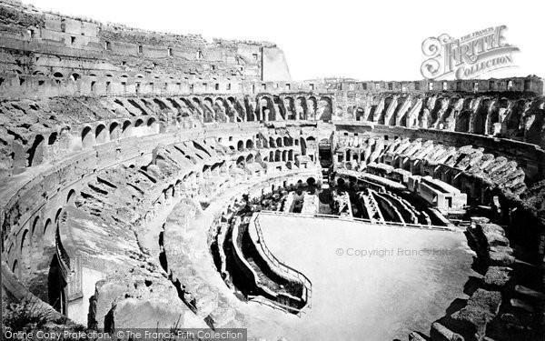 Photo of Rome, Colosseum Interior c.1875