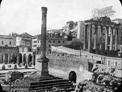 Rome, Forum Column Of Phocas c.1872