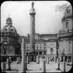 Rome, Forum Of Trajan c.1865