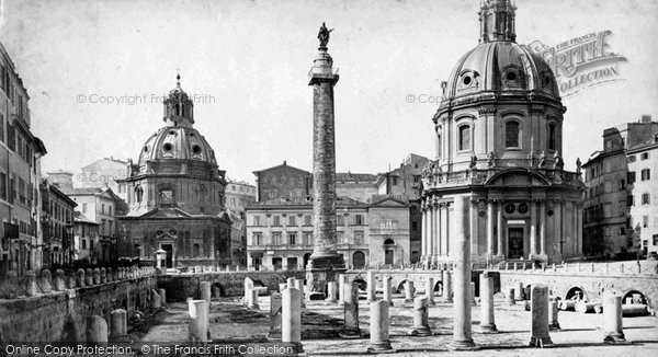 Photo of Rome, Forum Of Trajan c.1872