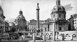 Rome, Forum Of Trajan c.1872