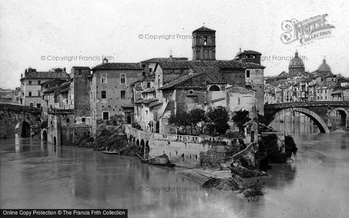 Photo of Rome, Island Of The Tiber c.1875