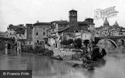 Rome, Island Of The Tiber c.1875