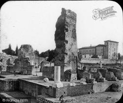Rome, Palatine Hill, Ruins, Palace Of The Caisars c.1875
