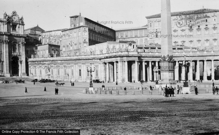 Photo of Rome, Piazza San Pietro And Papal Palace c.1930