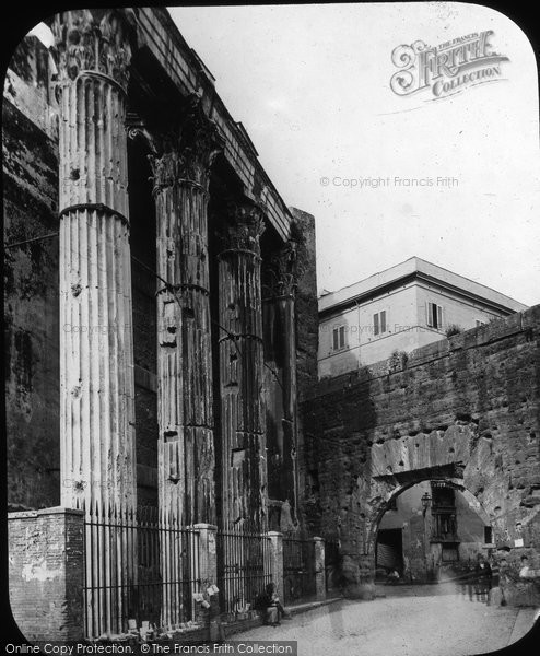 Photo of Rome, Portico Di Nerva, Temple Of Mars c.1875