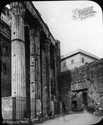 Rome, Portico Di Nerva, Temple Of Mars c.1875
