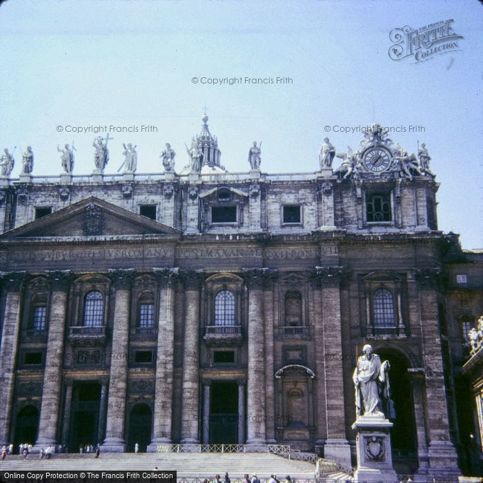 Photo of Rome, St Peter's Basilica 1967