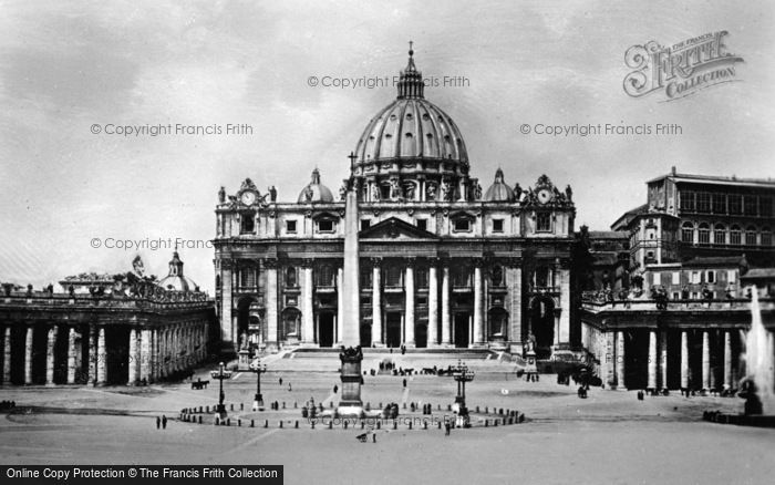Photo of Rome, St Peter's Basilica And Piazza c.1930