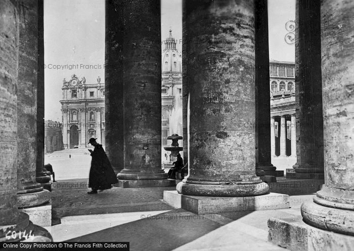 Photo of Rome, St Peter's Basilica From The Colonnade c.1930