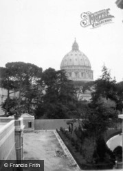 St Peter's Basilica From The Vatican c.1930, Rome