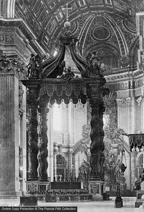 Photo of Rome, St Peter's Basilica, High Altar c.1930