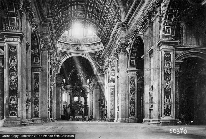 Photo of Rome, St Peter's Basilica, Nave c.1930