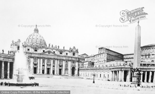 Photo of Rome, St Peter's Cathedral c.1872