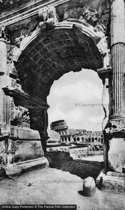 Photo of Rome, The Colosseum From Arch Of Titus c.1930