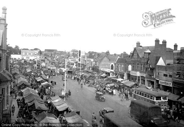 photo of romford  market place c 1950