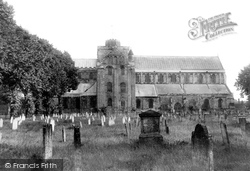 Romsey, Abbey, North Side 1898